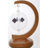 Radiometer on a curved wooden stand
